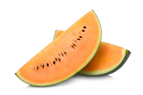 Tendersweet Orange Watermelon- 10 Seeds -Heirloom