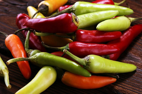 Sante Fe Pepper - 10 Seeds - Green To Yellow- Orange to Red
