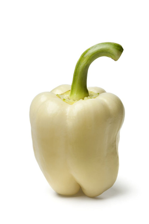 White Bell Pepper 10 seeds Sweet Thick Walled Dependable High Yields