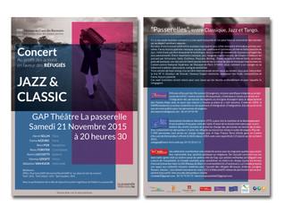 Concert en faveur des réfugiés au théâtre La Passerelle le 21/11/15