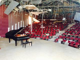 Claire à Gaza pour la restauration d'un piano de concert