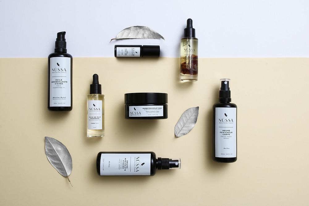 Nüssa est une marque de cosmetiques naturels et vegan pour le visage et le corps fabriquée en France.