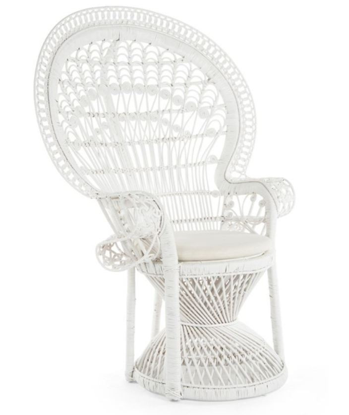 Traditional Baby Shower Chair - White