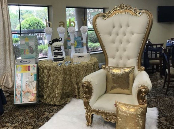 Throne Chair with Decorative Display