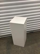 white pedestals