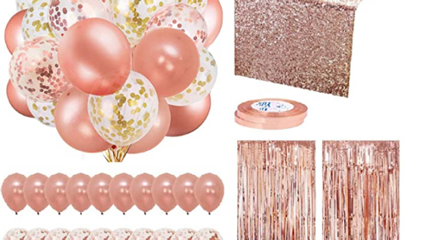 DIY Rose Gold Party Decoration Pack