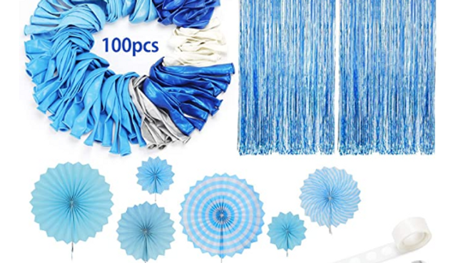 DIY Baby Blue Party Decoration Pack