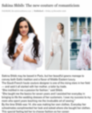 Arab News article about Sakina Paris