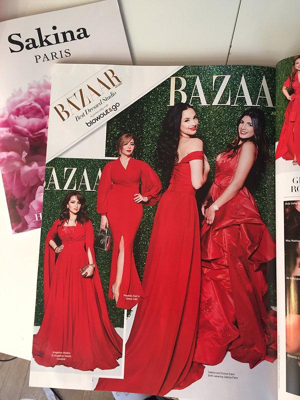 Harper's Bazaar Arabia article about Sakina Paris