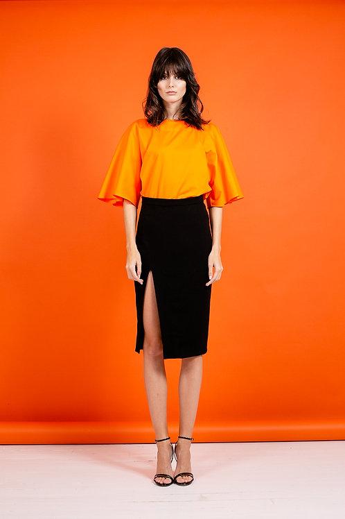 T-Shirt évasé orange