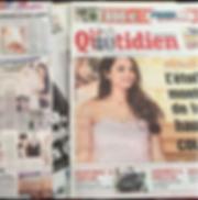 article dans Le Quotidien sur sakina paris