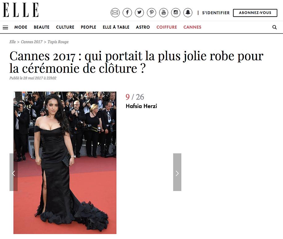 Article sur Hafsia Herzi et Sakina Paris dans le Elle