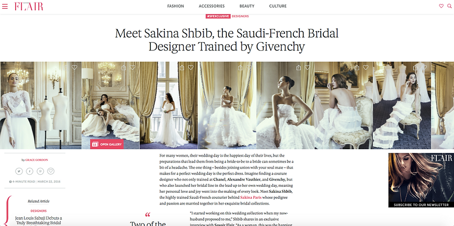 Savoir Flair article about Sakina Paris