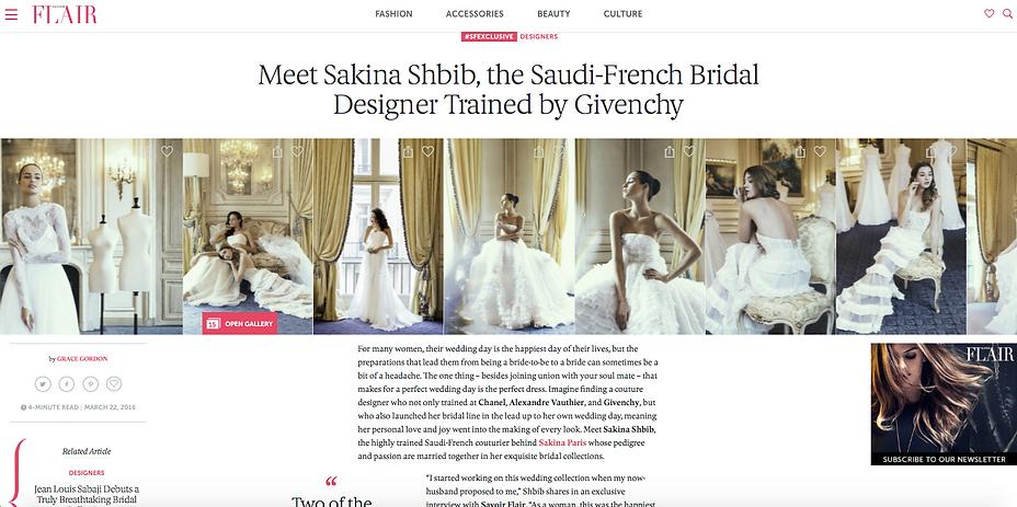 Savoir Flair article about Sakina Paris