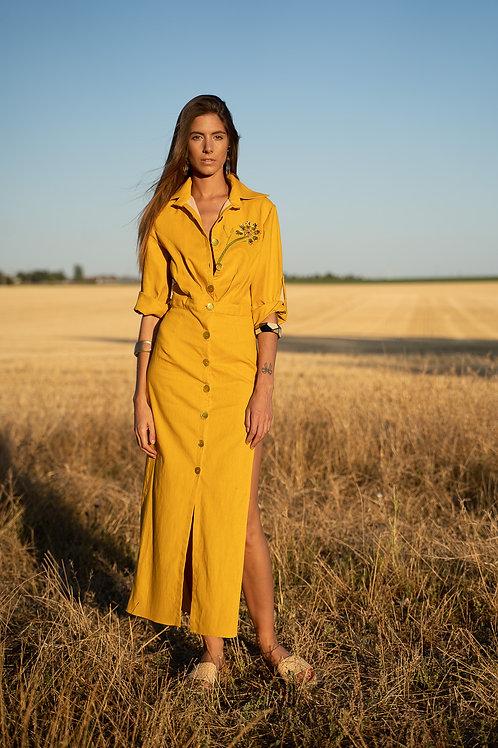 Combinaison jupe jaune