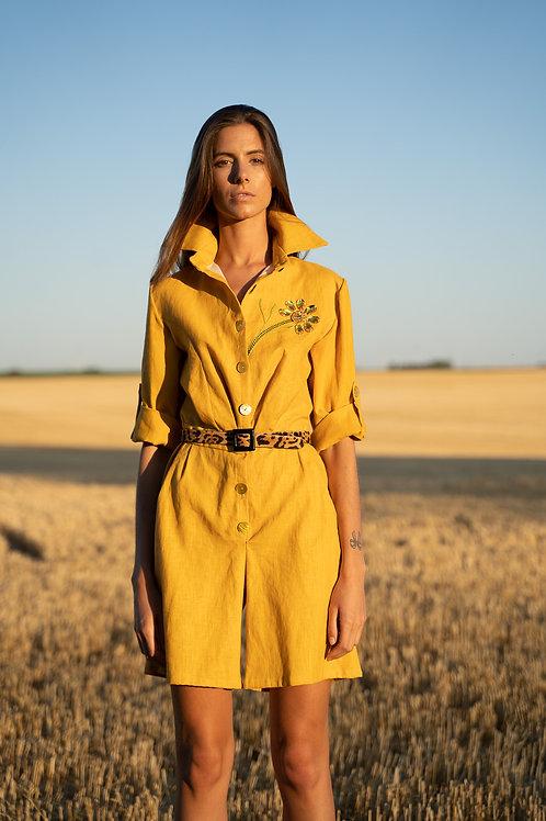 Combi-short jaune