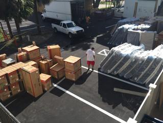 Furniture is being delivered!