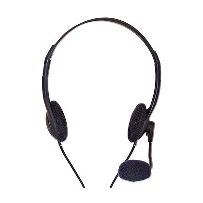 Audifonos Diadema Star Tec St-Hs-102A3.5 MmDosPlug Negro Con Microf negro incorp