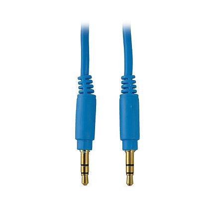 Cable Star Tec Audio 3.5Mm A 3.5Mm 1Mtr Azul Bolsa