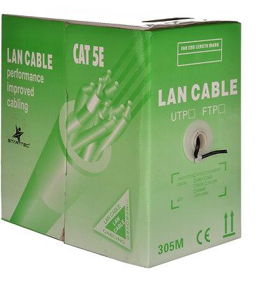 Cable Generico Utp Categoria 5E  305 Mtrs Negro