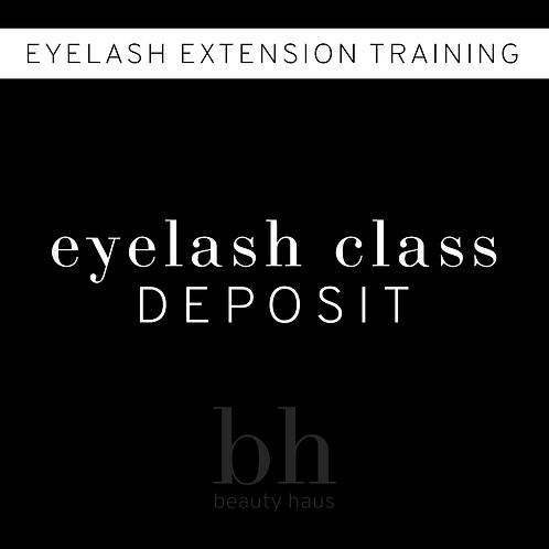Eyelash Class Deposit