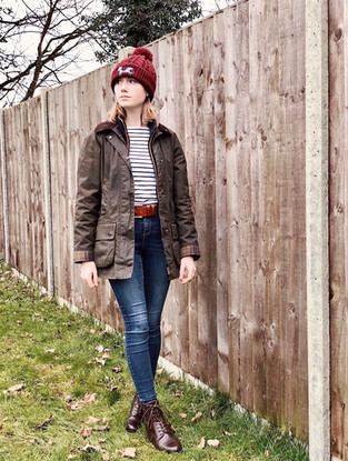 Hat - Cow & Cartridge Top - Joules Belt - Mackenzie & George  Jacket - Barbour Boots - Mountain Horse