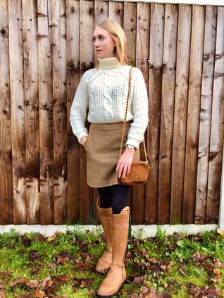 Jumper - New Look Skirt - Joules Boots - Fairfax & Favor Bag - Fairfax & Favor Watch - Morris Richardson Ring - Hiho Silver