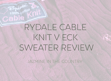 Rydale Cable Knit V Neck Sweater Review