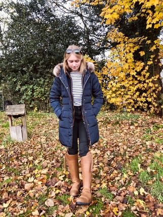 Top - Joules Gilet - Schoffel Jeans - Dorothy Perkins Boots - Fairfax & Favor Coat - Joules Sunglasses - Joules