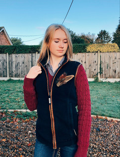 Shirt - Rydale Jumper - Rydale Gilet - Schoffel Jeans - Dorothy Perkins Feather Pin - Feather Lass