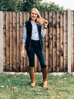 Top - Joules Gilet - Schoffel Country Jeans - Dorothy Perkins Boots - Fairfax & Favor Watch - Apple