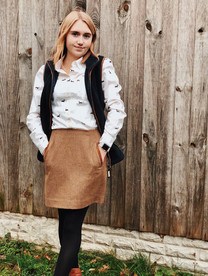 Shirt - Joules Skirt - Joules Gilet - Schoffel Boots - Joules