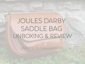 Joules Darby Leather Saddle Bag Unboxing & Review