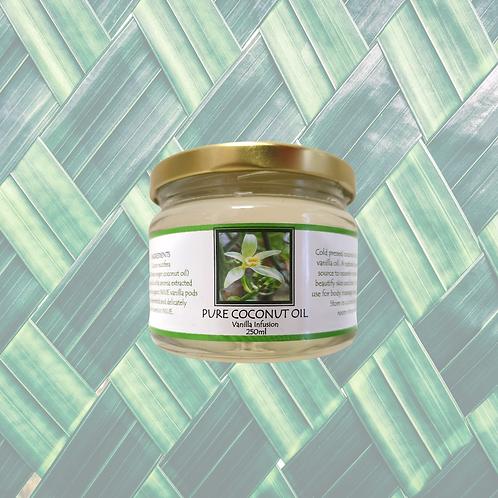Pure Coconut Oil Infused with Vanilla 250ml (Therapeutic)