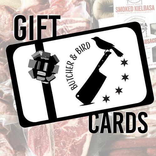 Butcher & Bird Gift Cards
