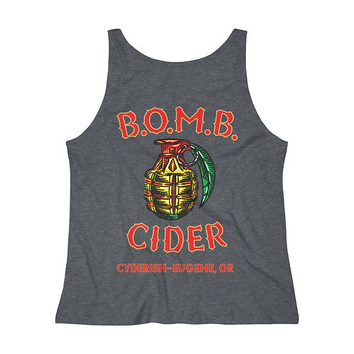 Women's Relaxed Jersey Tank Top - B.O.M.B. Cider