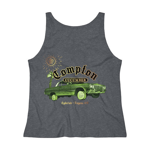 Women's Relaxed Jersey Tank Top - Compton Cucumber