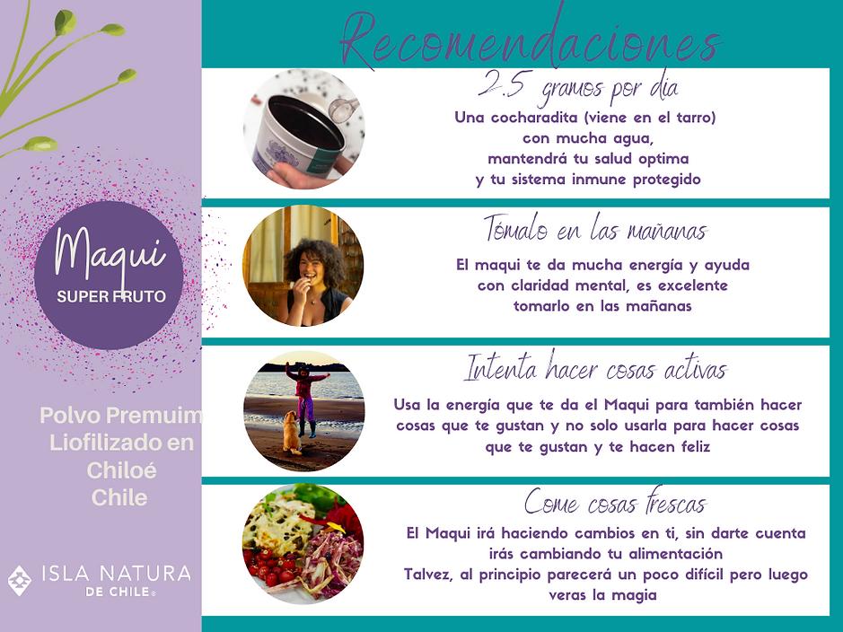 Recomendaciones Maqui Organico .png