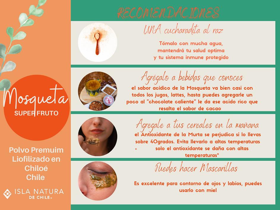 Recomendaciones Super Alimento Rosa Mosq