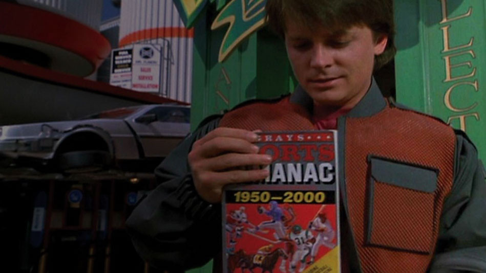 What I would do if I had to Start Over! Here's your Sports Almanac from Back to the Future!