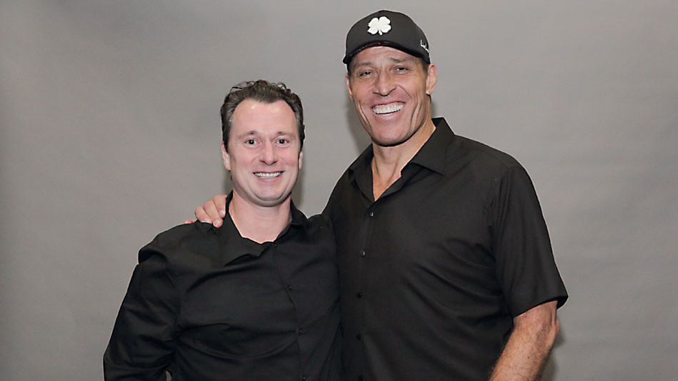 Marc M. Lalonde (The Wealthy Trainer) with Tony Robbins.