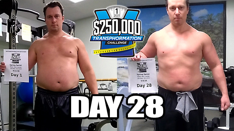 TransPHORMation Fat Loss Challenge - Day 28!