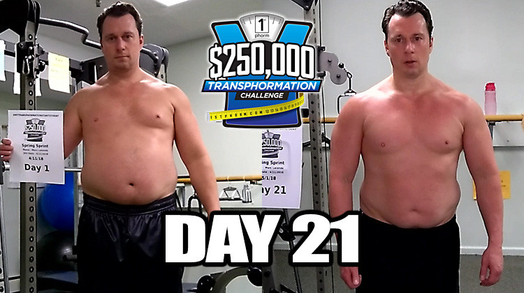 TransPHORMation Fat Loss Challenge - Day 21!