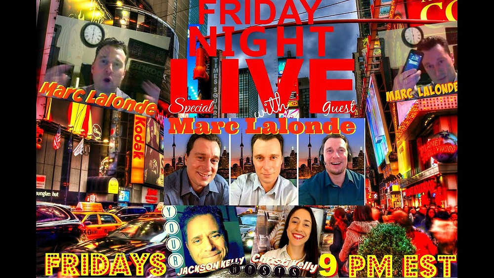 Friday Night Live featuring Marc M. Lalonde aka The Wealthy Trainer!
