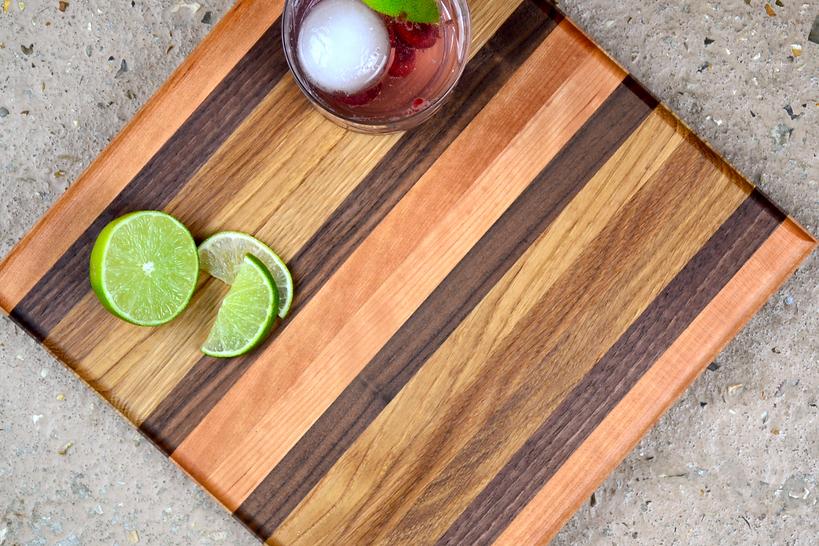 Noosa Gin and tonic chopping board woode