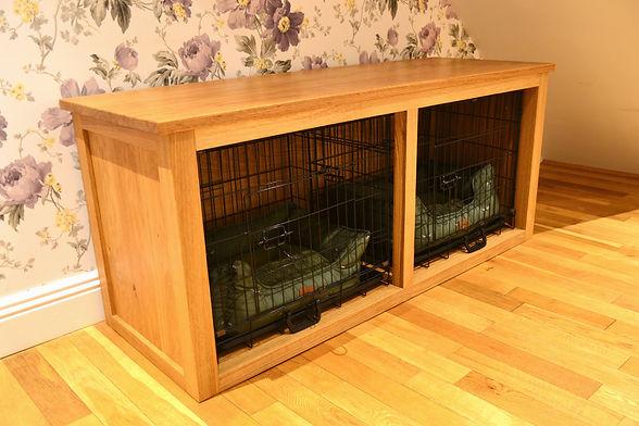 french oak dog cage cabinet.JPG