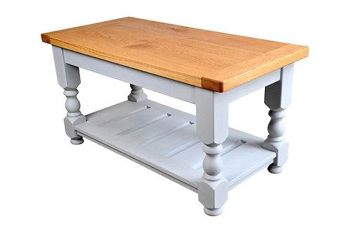 French Oak Farmhouse Coffee Table - Paris Grey