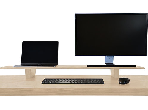Monitor and Laptop Riser Stand American Ash