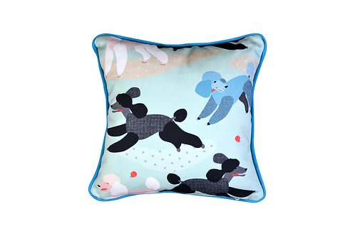 Cushion - Poodles in the Park