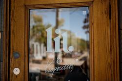 The front door of The Literary